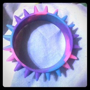 Free w/ Bundle! Rubber Spiky Bracelet